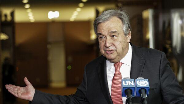 El secretario general de la ONU, António Guterres (archivo) - Sputnik Mundo