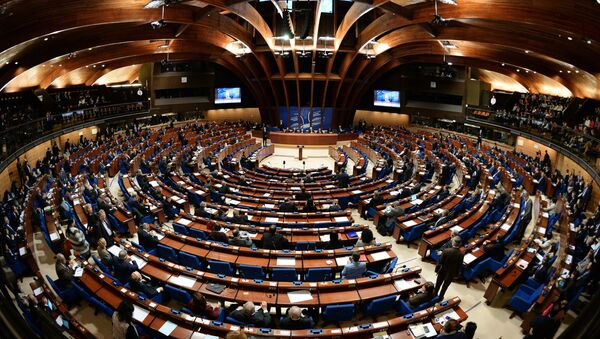Delegates at a plenary meeting of the Parliamentary Assembly of the Council of Europe (PACE) - Sputnik Mundo