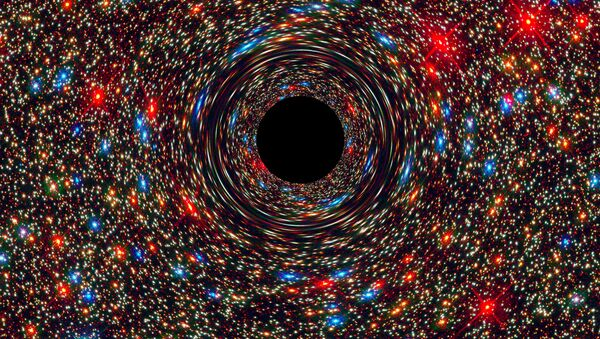 Agujero negro (ilustración) - Sputnik Mundo