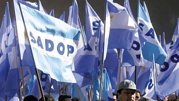 Los partidarios de la Confederación General del Trabajo de Argentina - Sputnik Mundo