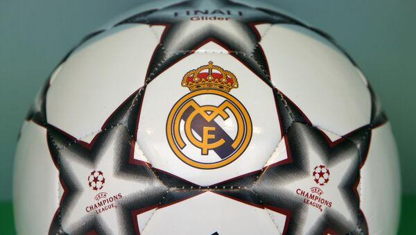 A Real Madrid Champions League football seen in a shop window in Madrid, 07 December 2006.  - Sputnik Mundo
