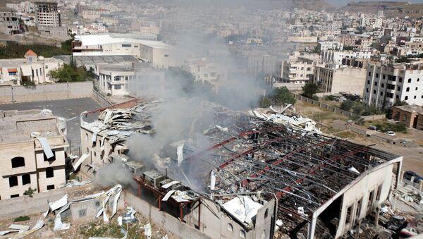 El lugar del ataque, Yemen - Sputnik Mundo