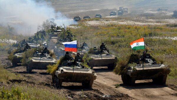 Las maniobras ruso-indias Indra 2016 (archivo) - Sputnik Mundo