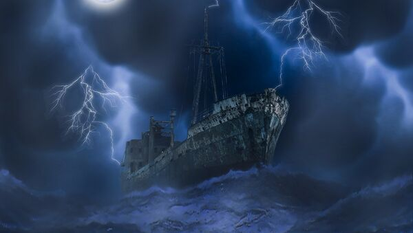 Un navío fantasma (ilustración) - Sputnik Mundo