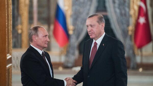 Los mandatarios de Rusia y Turquía - Sputnik Mundo