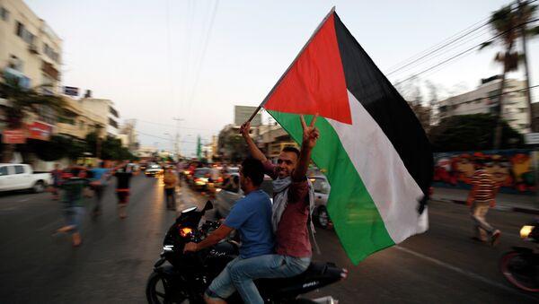 Los palestinos en la ciudad de Gaza - Sputnik Mundo