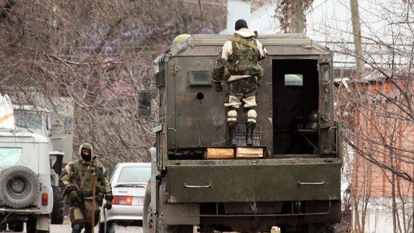 Las fuerzas de seguridad en Nálchik, Kabardia-Balkaria - Sputnik Mundo
