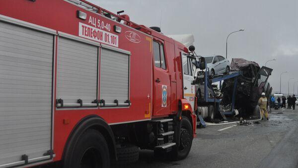 El accidente de tráfico en Osetia del Norte - Sputnik Mundo