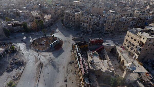 Tres oficiales rusos heridos en Alepo - Sputnik Mundo