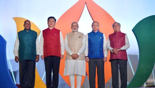 Los líderes de BRICS (archivo) - Sputnik Mundo
