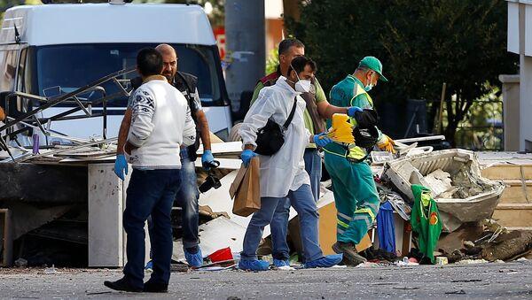 El lugar de la explosión en Gaziantep, Turquía - Sputnik Mundo