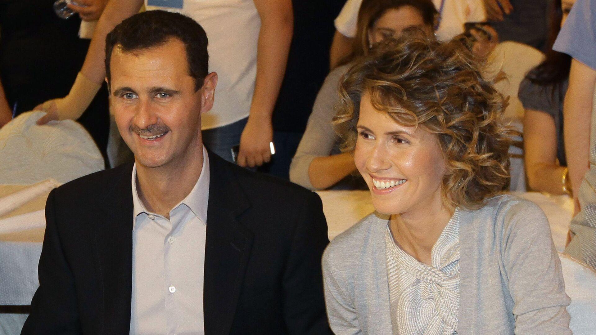 Syrian President Bashar Assad and his wife Asma (File) - Sputnik Mundo, 1920, 08.03.2021