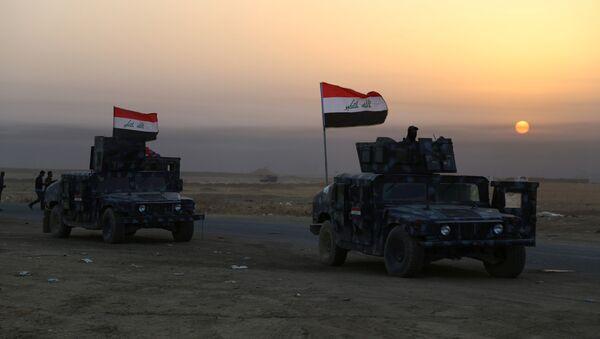 Iraqi security forces advance in Qayara, south of Mosul, to attack Islamic State militants in Mosul - Sputnik Mundo