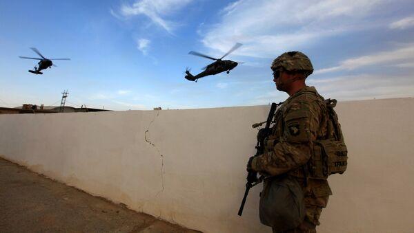 Base militar estadounidense en Irak (Archivo) - Sputnik Mundo