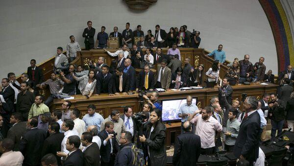 Los partidarios del presidente entraron en la Asamblea Nacional de Venezuela - Sputnik Mundo