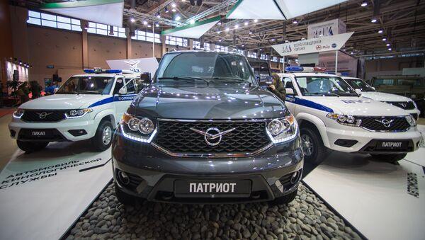 El pabellón de UAZ en la feria internacional de seguridad Inerpolitech 2016 - Sputnik Mundo