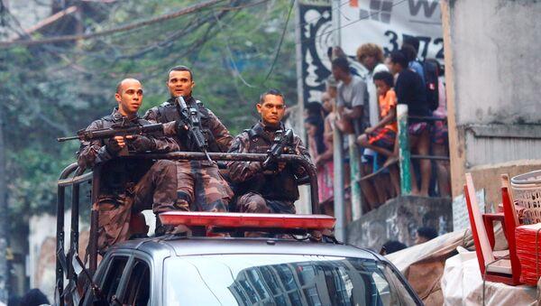 La policía de Río de Janeiro (archivo) - Sputnik Mundo