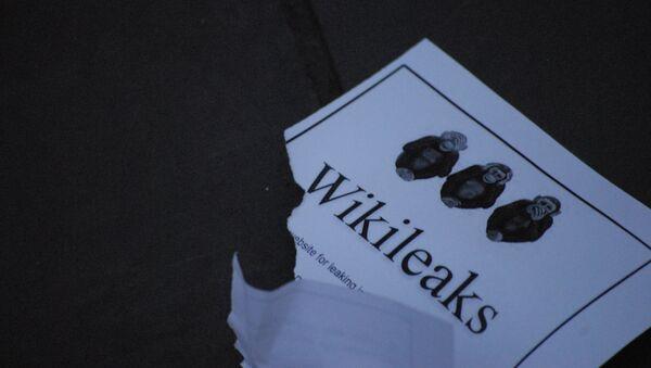 Logo de Wikileaks - Sputnik Mundo