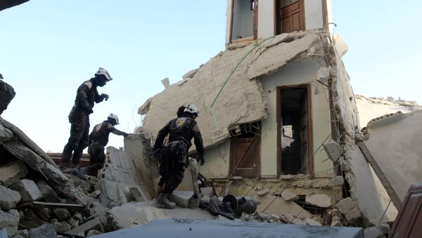 Edificio destruido en Alepo - Sputnik Mundo