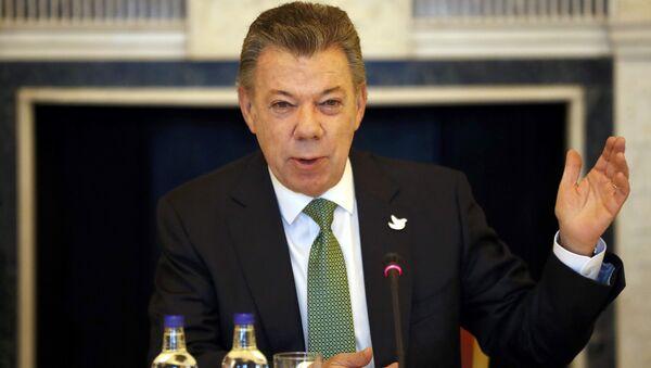 Juan Manuel Santos, el presidente de Colombia (archivo) - Sputnik Mundo