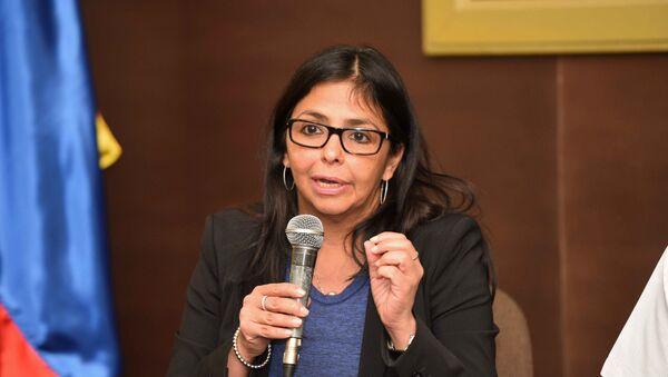 Delcy Rodríguez, ministra de Exteriores de Venezuela (archivo) - Sputnik Mundo