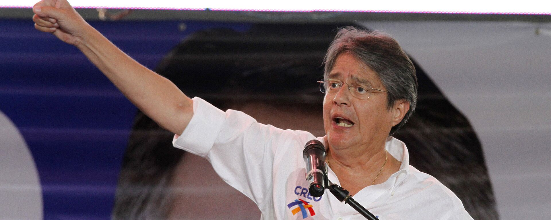 Opposition presidential candidate of the Movement Creando Oportunidades, CREO, party, Guillermo Lasso, delivers a speech during his closing campaign rally in Guayaquil, Ecuador, Thursday, Feb. 14, 2013. - Sputnik Mundo, 1920, 03.10.2021