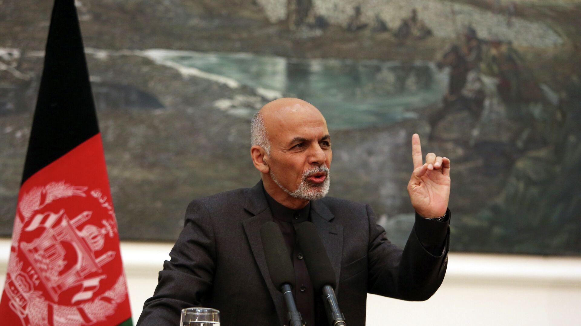 El presidente afgano, Ashraf Ghani - Sputnik Mundo, 1920, 08.09.2021