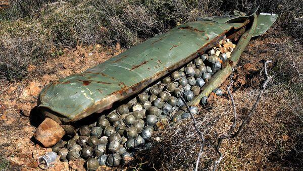 Una bomba de racimo sin detonar (archivo) - Sputnik Mundo