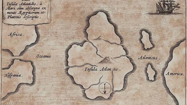 Mapa de la mítica Atlántida - Sputnik Mundo