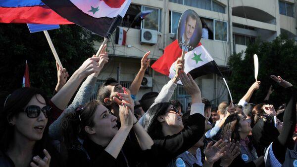 Ciudadanos del puerto sirio de Tartus (archivo) - Sputnik Mundo