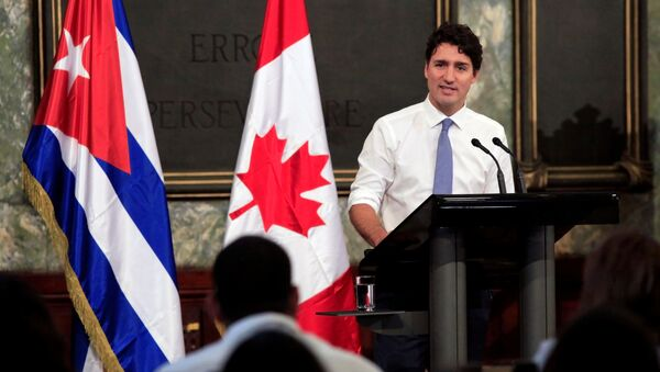 El primer ministro de Canadá, Justin Trudeau en Cuba - Sputnik Mundo