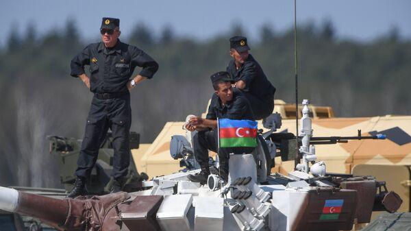 Militares de Azerbaiyán (archivo) - Sputnik Mundo