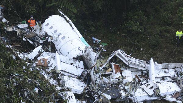 Restos del avión en el que iba el Chapecoense - Sputnik Mundo