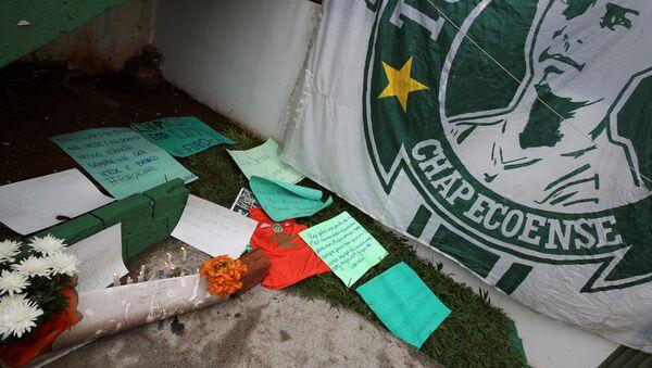 Homenaje a los jugadores fallecidos del club Chapecoense - Sputnik Mundo