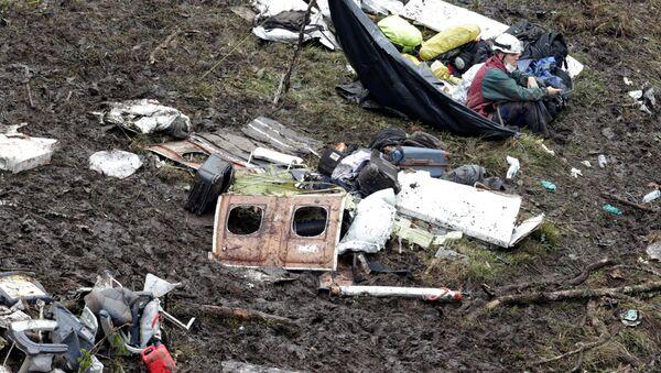 Restos del avión con futbolistas del club brasileño Chapecoense (archivo) - Sputnik Mundo