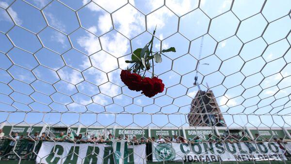 Homenaje a los jugadores de Chapecoense - Sputnik Mundo