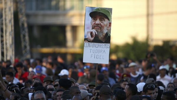 Cuba se despide de Fidel Castro - Sputnik Mundo