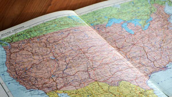 El mapa de EEUU - Sputnik Mundo