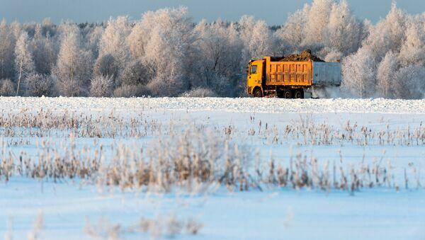 Un camión en Rusia - Sputnik Mundo