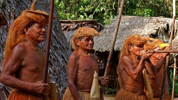 Members of an Amazon Indian tribe Yagua - Sputnik Mundo
