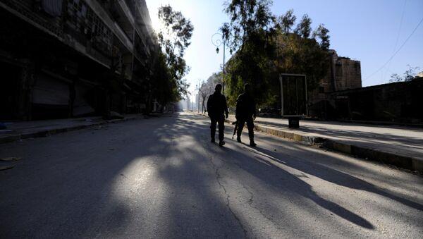 Fuerzas gubernamentales sirias en Alepo - Sputnik Mundo