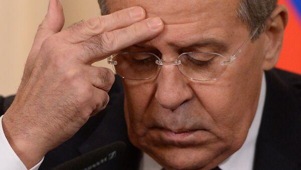 Serguéi Lavrov, Ministro de Relaciones Exteriores de Rusia - Sputnik Mundo