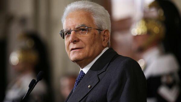 Sergio Mattarella, presidente de Italia (archivo) - Sputnik Mundo
