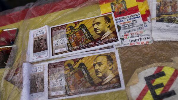 Los billetes de lotería con la imagen de Francisco Franco (archivo) - Sputnik Mundo