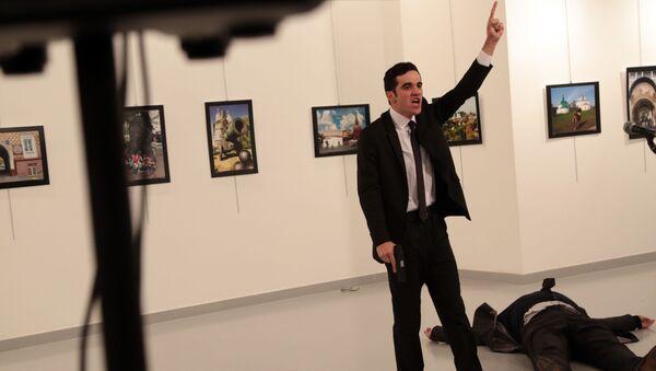 Mevlut Mert Altintas que mató al embajador ruso en Ankara, Andréi Kárlov - Sputnik Mundo