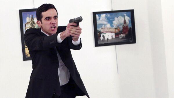 Mevlut Altintas, asesino del embajador ruso en Turquía (Archivo) - Sputnik Mundo