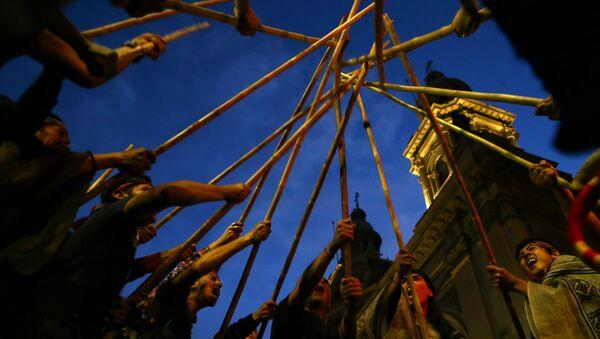 Protesta del pueblo indígena mapuche (archivo) - Sputnik Mundo