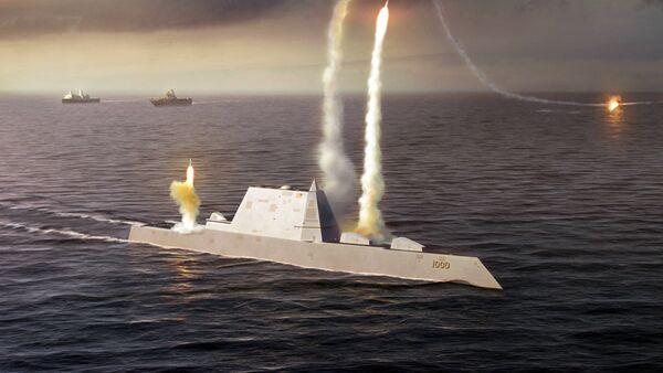 Artistic Rendering of the USS Zumwalt class destroyer DDG 1000 - Sputnik Mundo