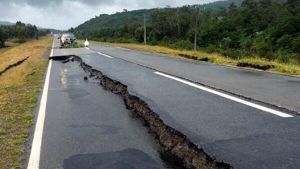 Consecuencias de un terremoto en Chile (archivo) - Sputnik Mundo