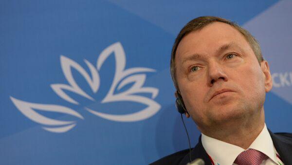 Director General de Rossetti Oleg Budargгin en el foro económico en Vladivostok - Sputnik Mundo
